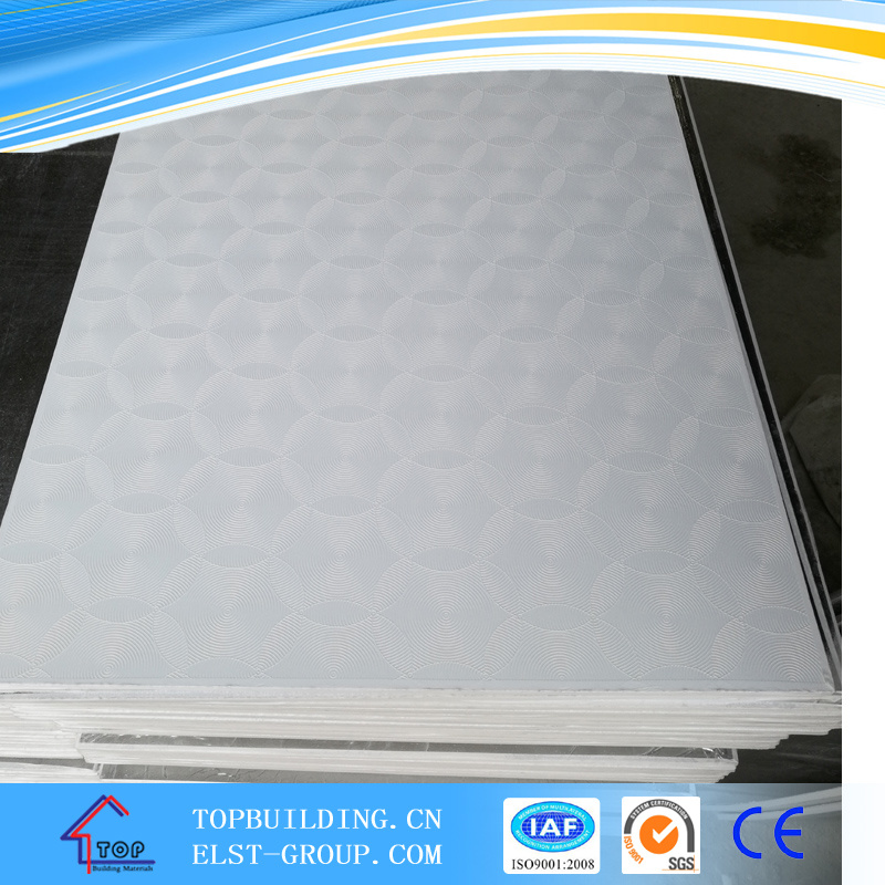 PVC Laminated Gypsum Board Ceiling Tile 595*595*7mm 603*603*9mm