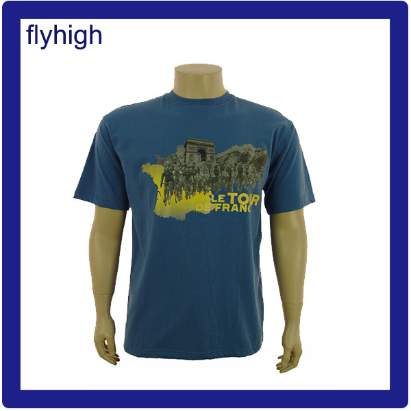 Men′s Yellow Color Custom Printed Promotional T-Shirt