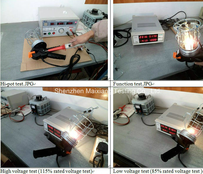 Quality Control/Final Inspection Service for Lighting Test/Testing