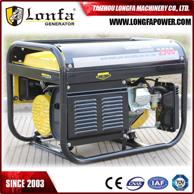 2.2kw Electric Start 4 Stroke 6.5HP Gasoline Generator
