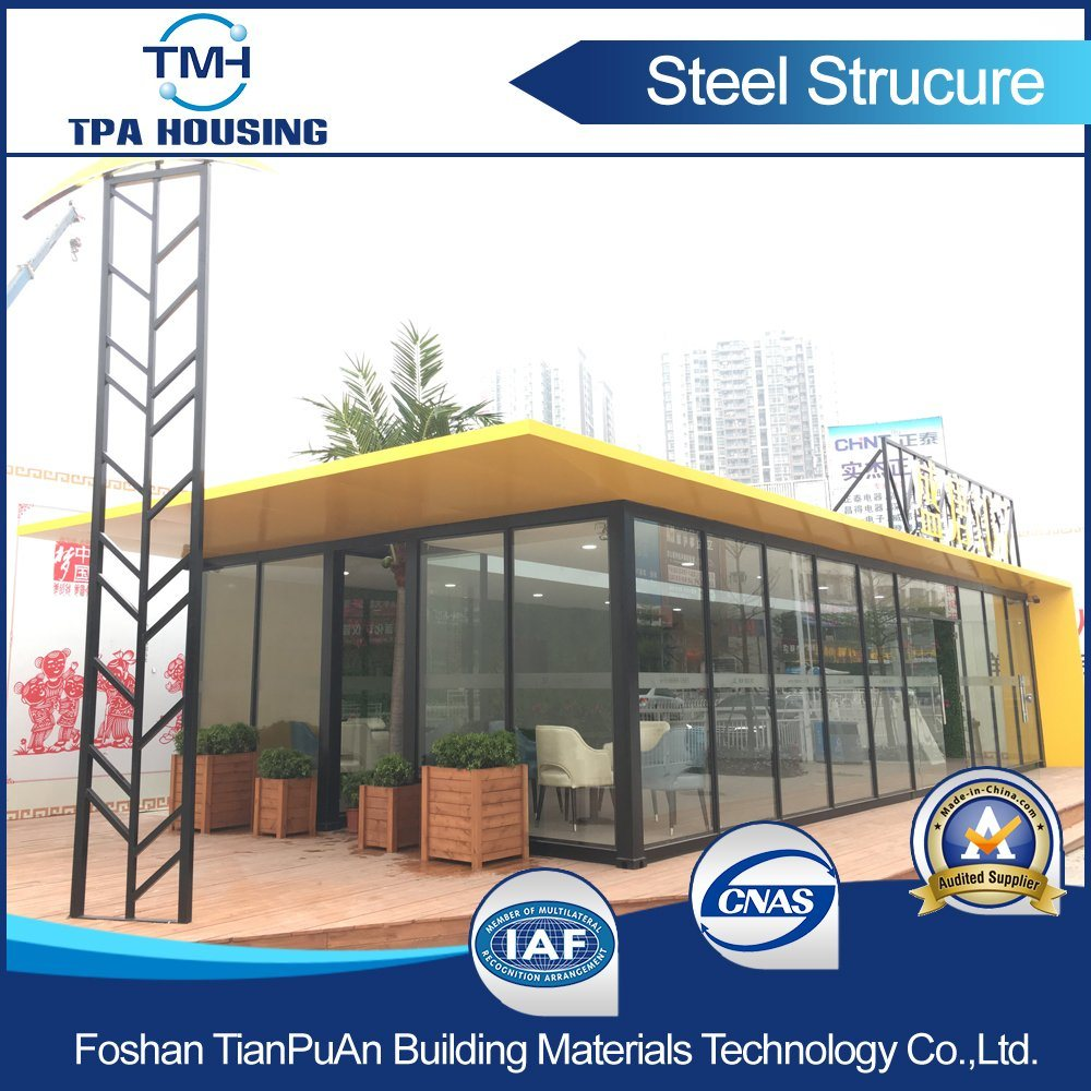 40FT Metal Sheet Fabrication Container House for Small Display Shops