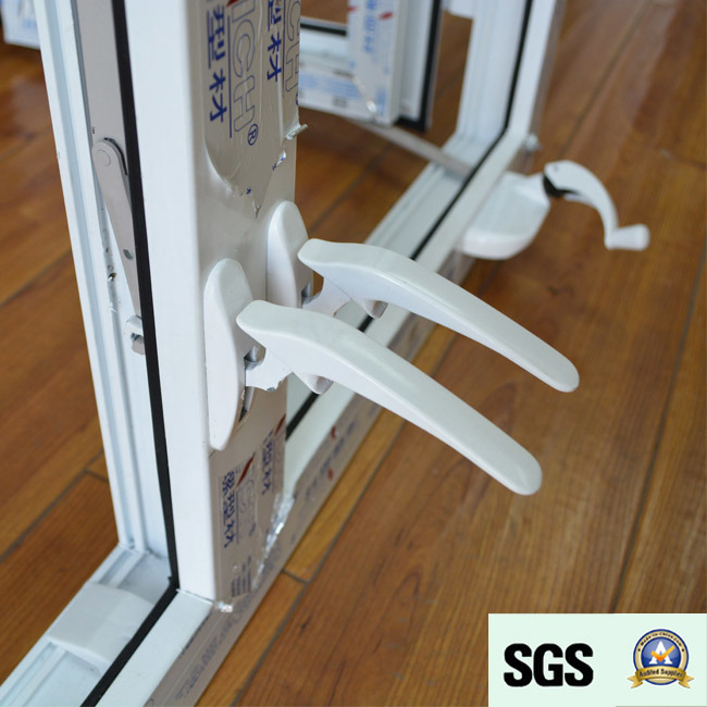 White Colour UPVC Profile Casement Window with Crank Lock K02052