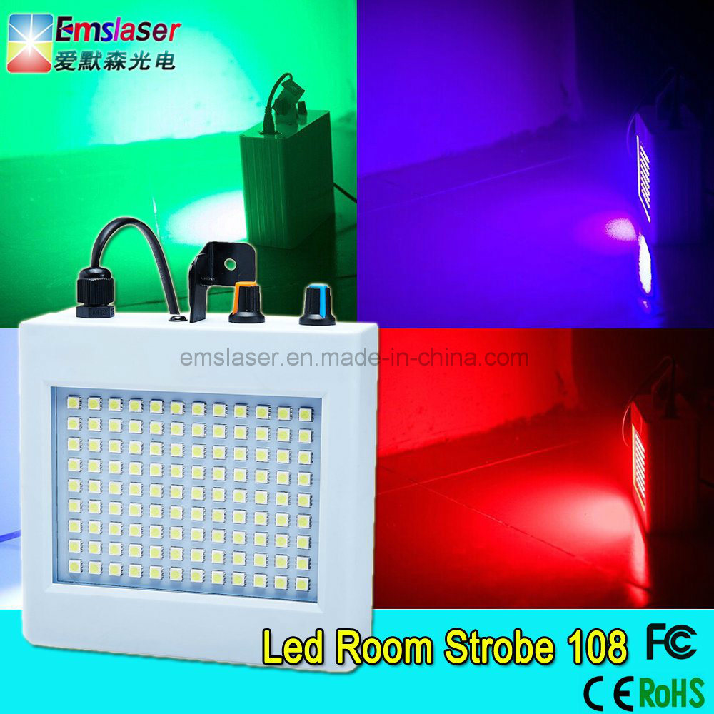 RGB Full Color LED Strobe Light SMD 5050 108PCS LED DJ Flash Disco Light