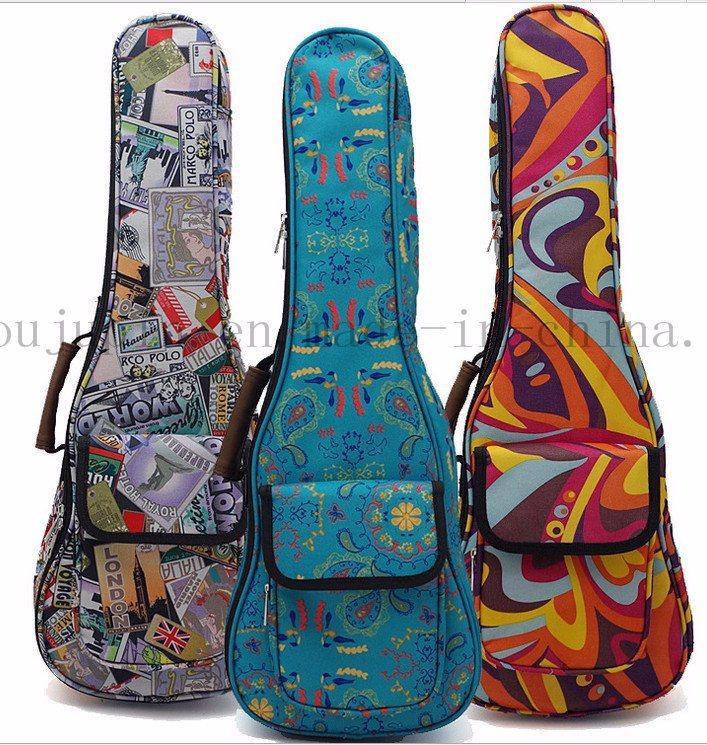 Custom Print Fashion Canvas Ukulele Guitar Bag Case for Promotion
