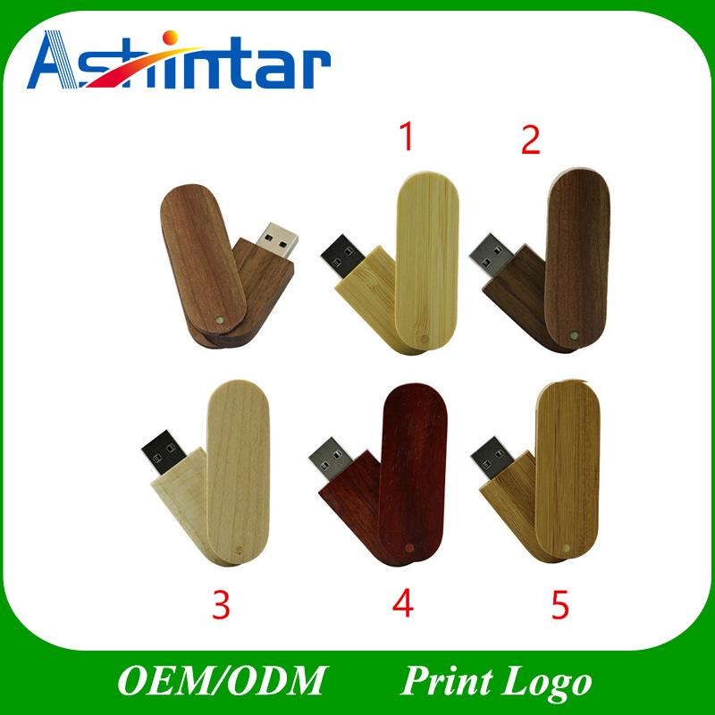 Wooden USB Stick Thumbdrive Flash Memory Swivel USB Flash Drive