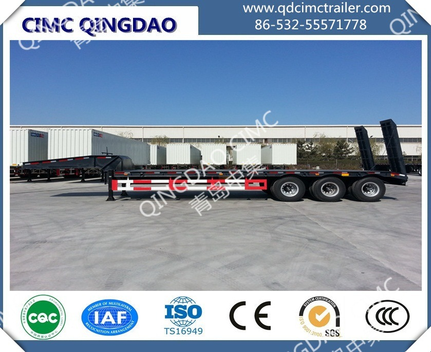 Cimc 40FT Three Anxle Skeleton Chassis Semi Trailer Truck Chassis