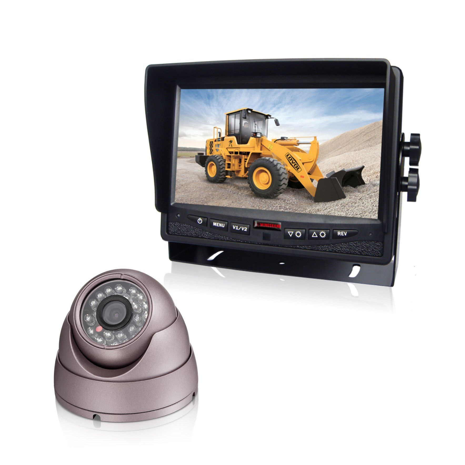 7-Inch HD Reversing Camera HD Monitor for Trucks, Buses, Tracters