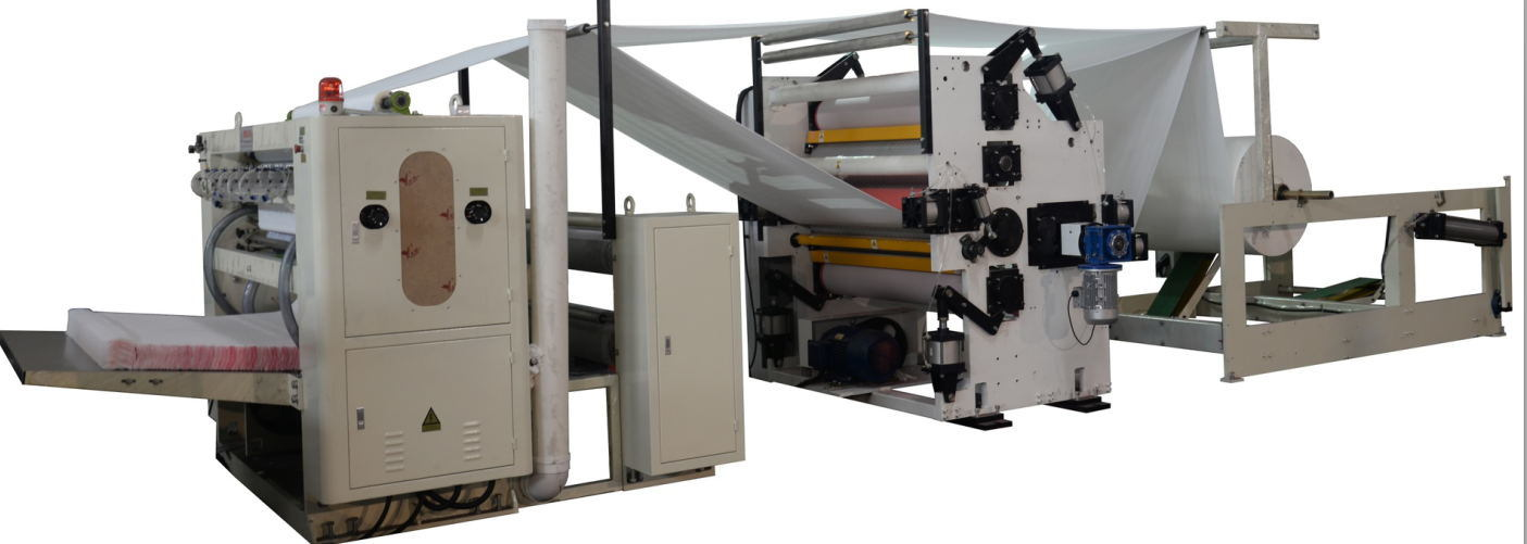 Facial Tissue Folding Machine with Lamination