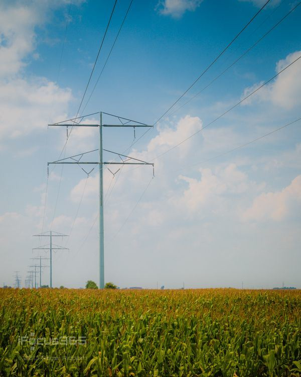 Steel Electric Power Transmission Tower with