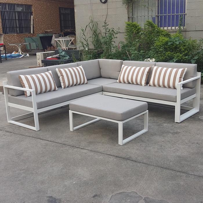 Outdoor Hotel Sofa Wicker Patio Garden Chair Furniture Modern Adjustable Aluminum Sofa Set