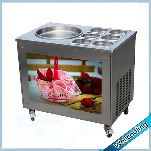 Best Price Fried Ice Cream Machine with 6 Fruit Toppings