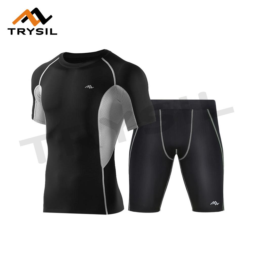 Summer Men Sport Suit T Shirt Shorts for Sport