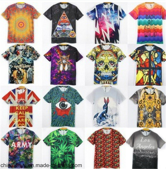 2017 Custom Printing Men T-Shirt with Cotton or Polyester Fabric
