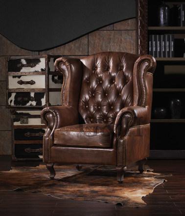 Sandringham Leather Club Chair