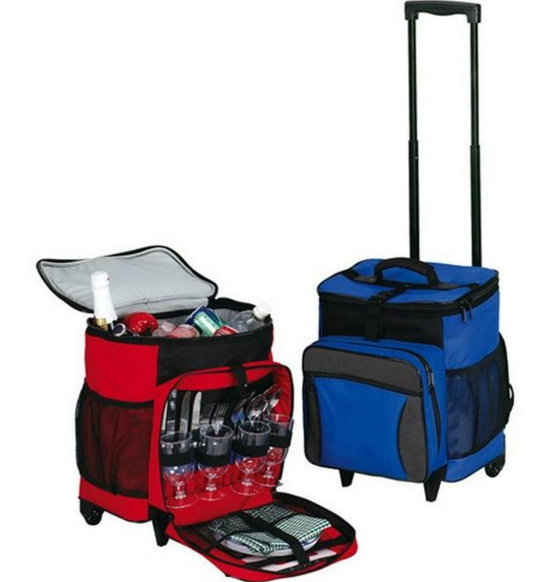 Large Picnic Insulated Trolley Cooler Bag