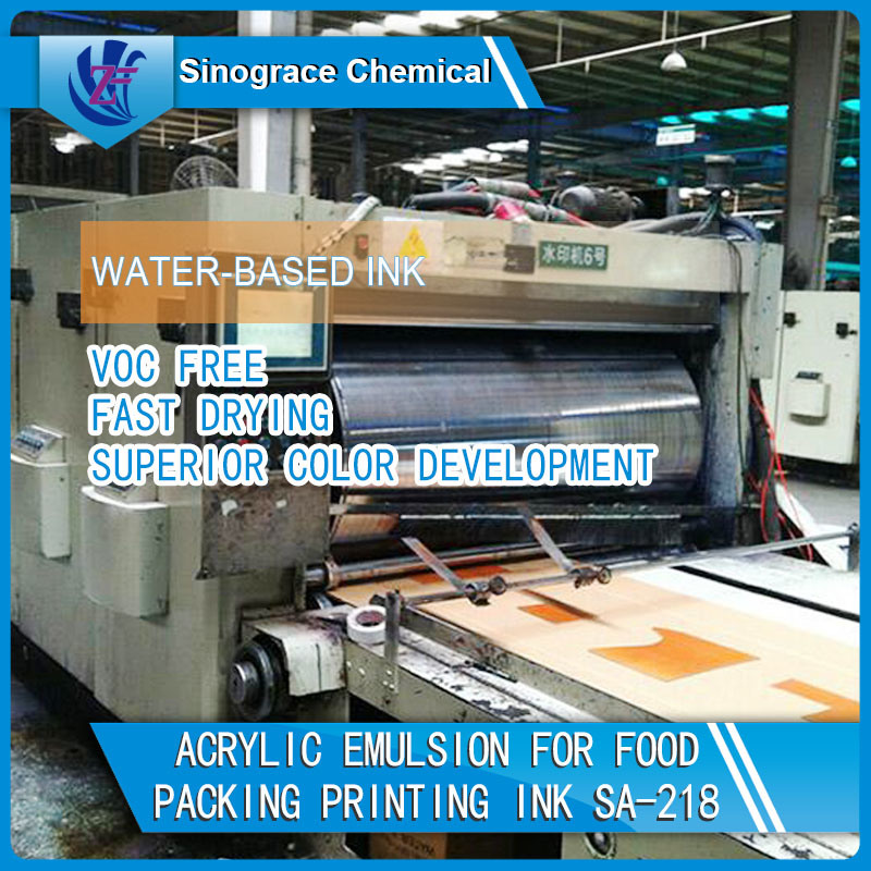 Fast Drying Acrylic Emulsion for Printing Ink
