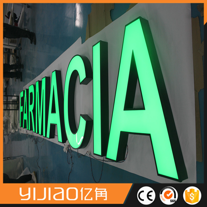 Good Brightness Metal Channel Letter Front Lit for Chain Store
