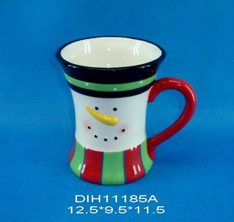 Funny Snowman Ceramic Mug for Christmas Decoration