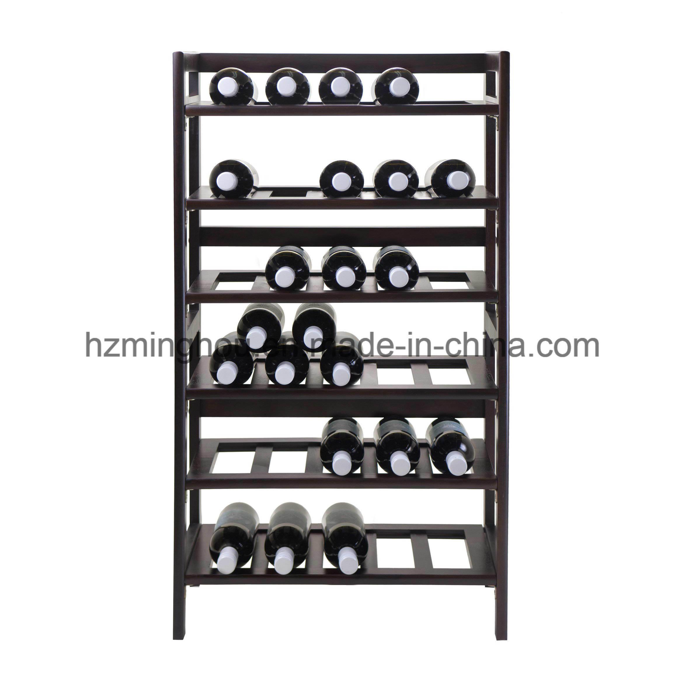 Modern Home Bar Storage Solid Wood Red Wine Display Cabinet