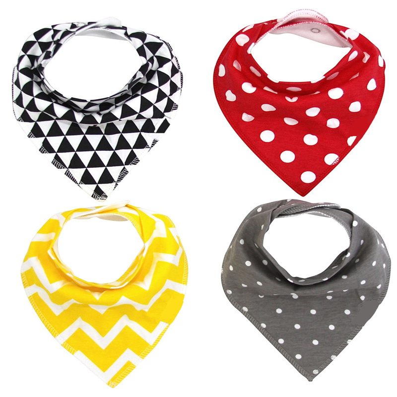 Promotional Gift Wholesale Eco-Friendly Customized Cheap Baby Wear Cotton Bandana Baby Bibs