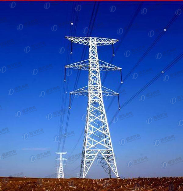 Durable Transmission Lattice Steel Line Tower