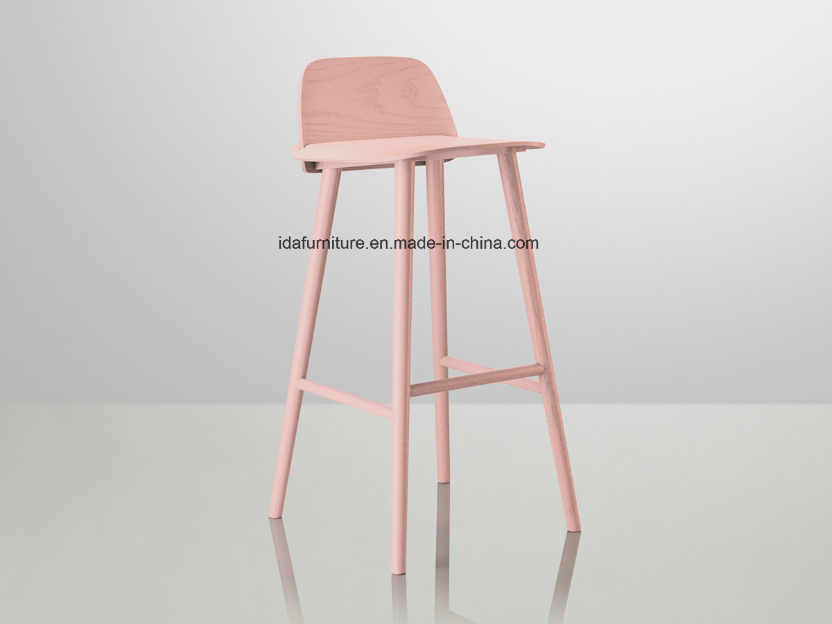 Modern Wooden Design Muuto Nerd Bar Stool