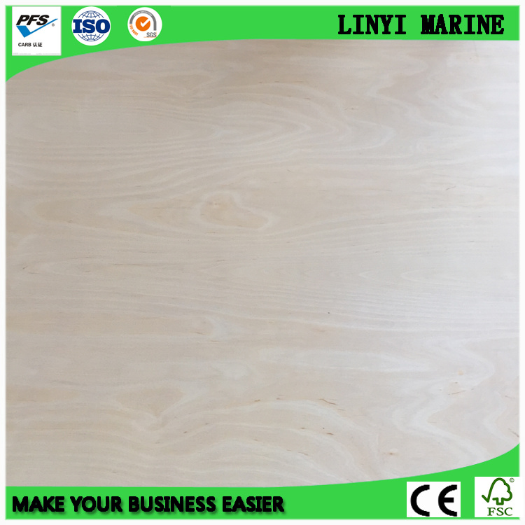 UV White Birch Plywood Carb2 Certificate 18mm