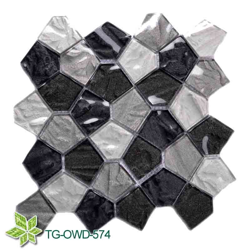 Glass Mosaic for Bathroom Wall (TG-OWD-574)