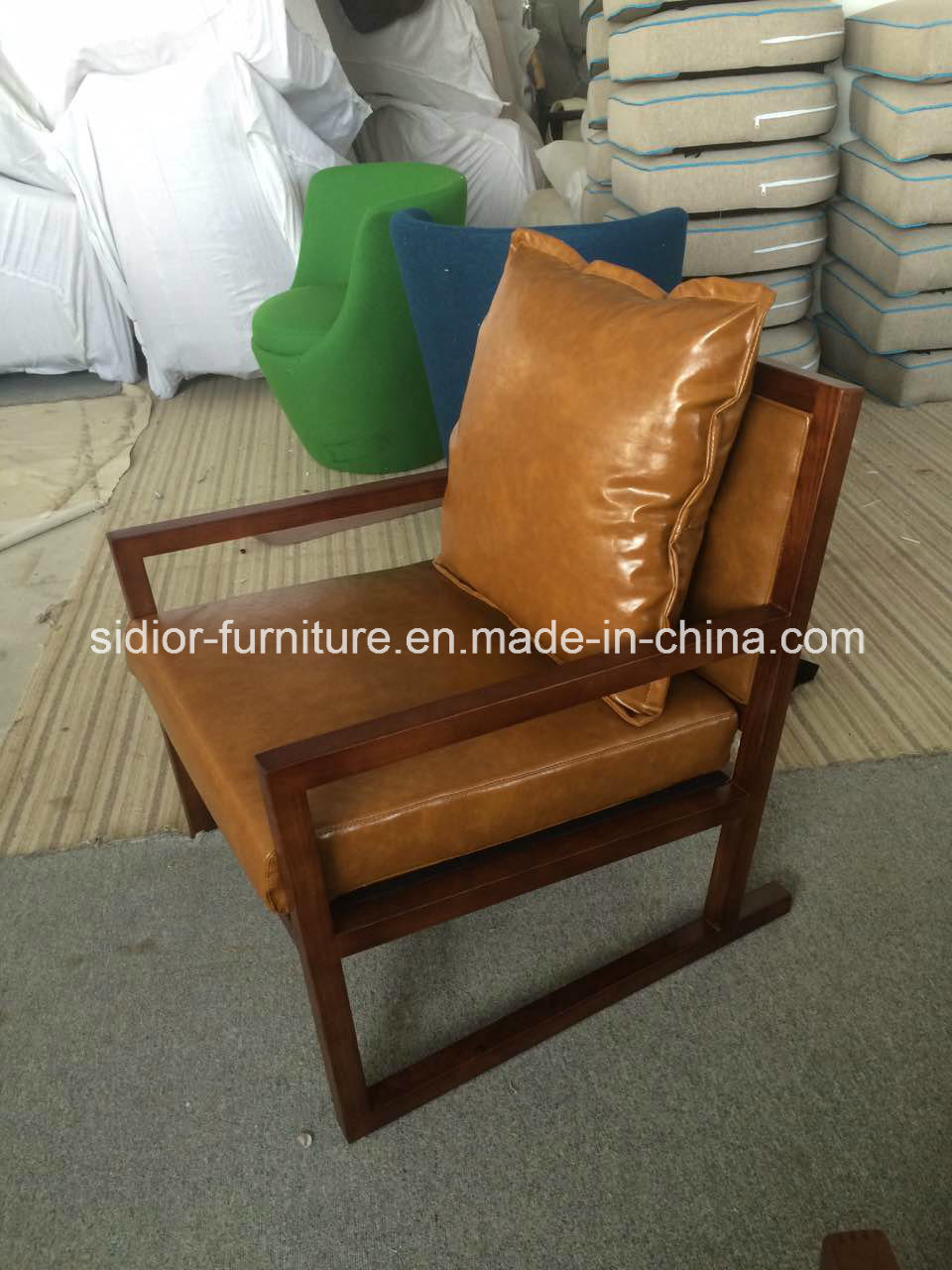 (CL-1127) Hotel Restaurant Furniture Wood Lounge Leisure Chair