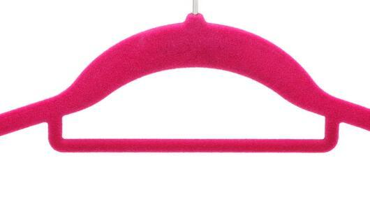 Flocked Top Hanger for Women (FT003)