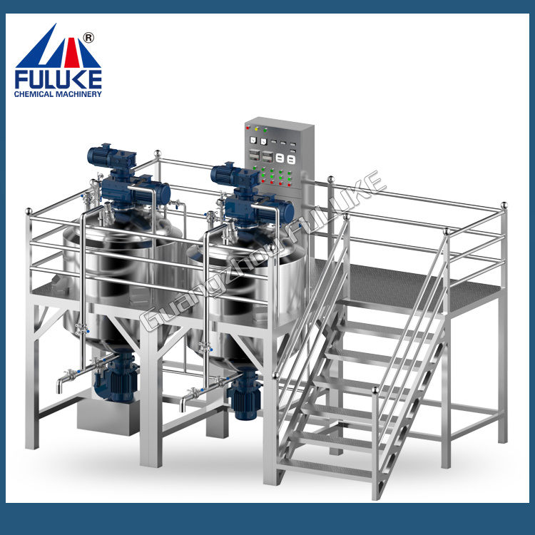 Flk Ce Vacuum Industrial Paddle Mixer with electric Heater