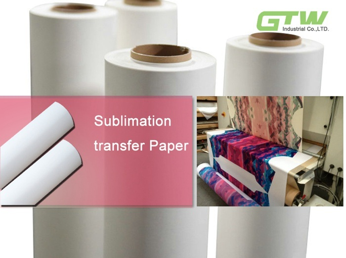 70GSM/75GSM Fast Dry Sublimation Paper for Industrial Printers (e. g. MS Italy, Mimaki TS500 and Reggiani printers)