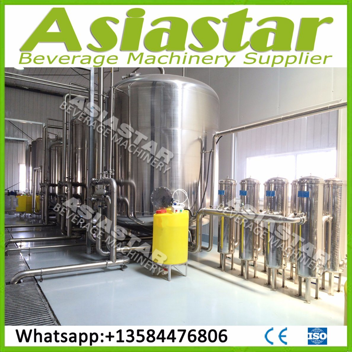 Stainless Steel Pure Water RO Water Treatment Filter Plant