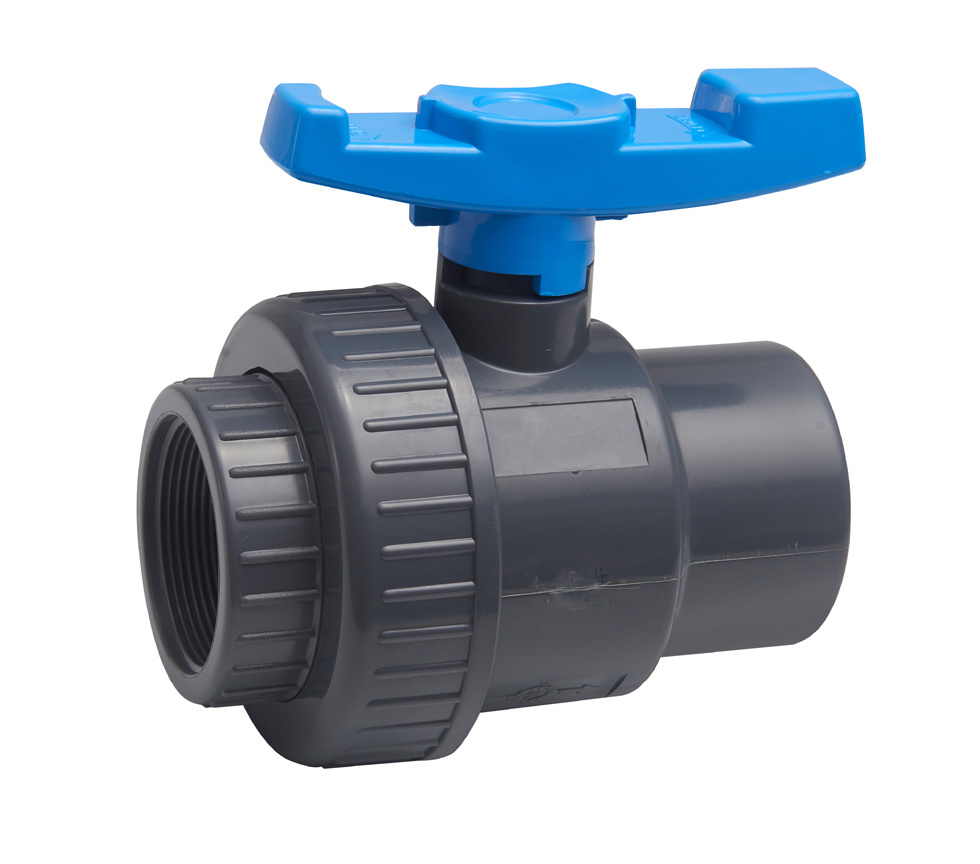 PVC Single Union Ball Valve (M*F, BSPT/NPT Standard) for Agriculture with ISO9001