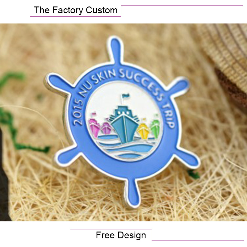 High Quality The Helmsman of The Lacquer That Bake Metal Badges