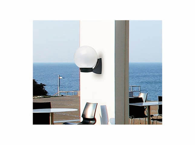 60W Ce IP44 Plastic Outdoor Wall Ball Light