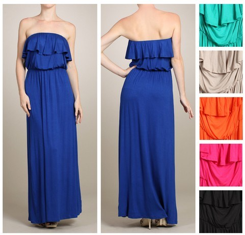 2016 Wholesale Customized Best Seller Fashion Pleat Maxi Ladies′ Dress