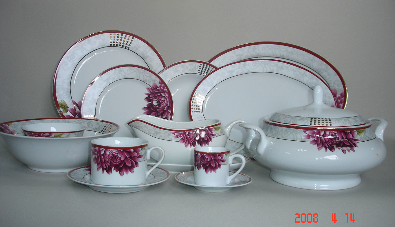 Porcelain 121PCS Dinner Set ZHG035  - PollinG Of Life Style Comp For FEb 2013