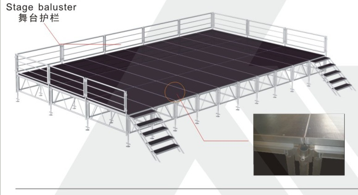 Steel Stage/Moving Stage/Transparent Stage