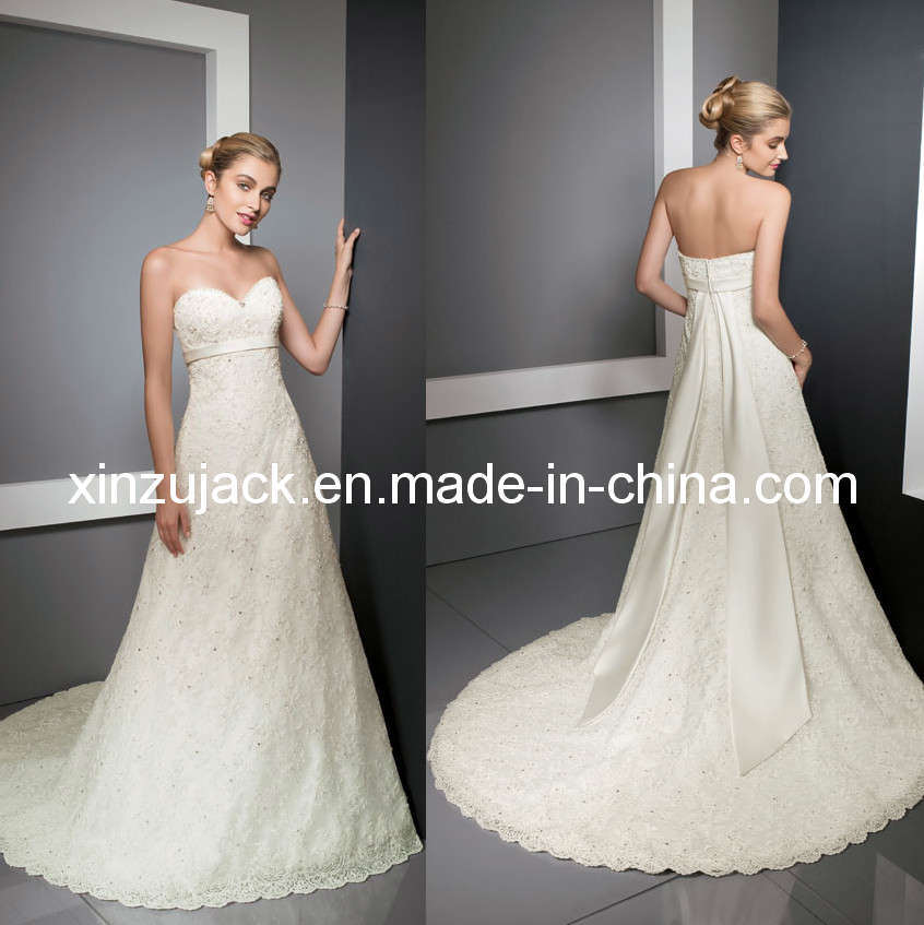 china 2011 lace aline bridal wedding dressampgown xz521