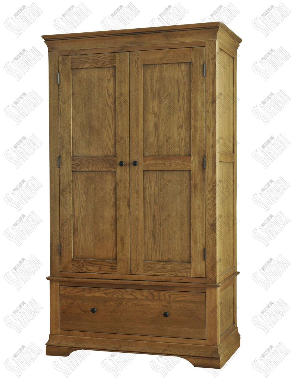 Solid oak wooden gents wardrobe photos