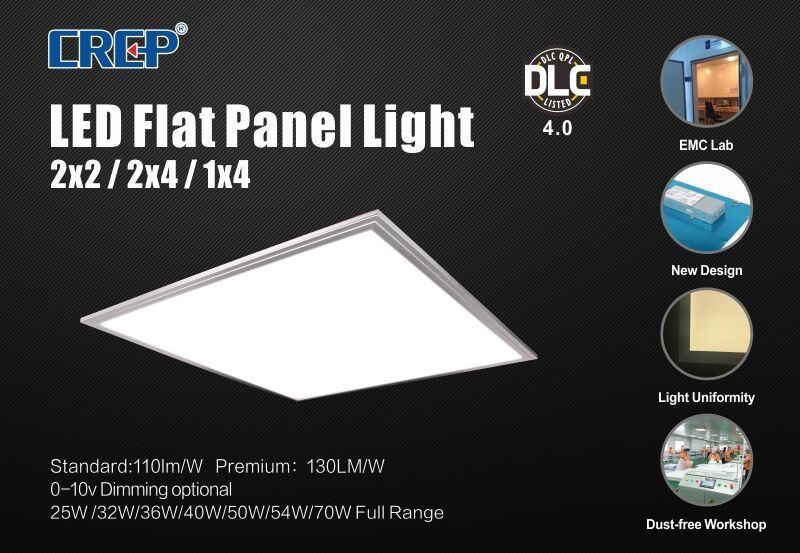 2017 UL Approved LED Panel Light 110-120lm/W 36W40W50W60W72W AC100-277V