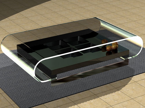 China 2010 modern tempered glass coffee table g8041d1 4 for Tempered glass coffee table