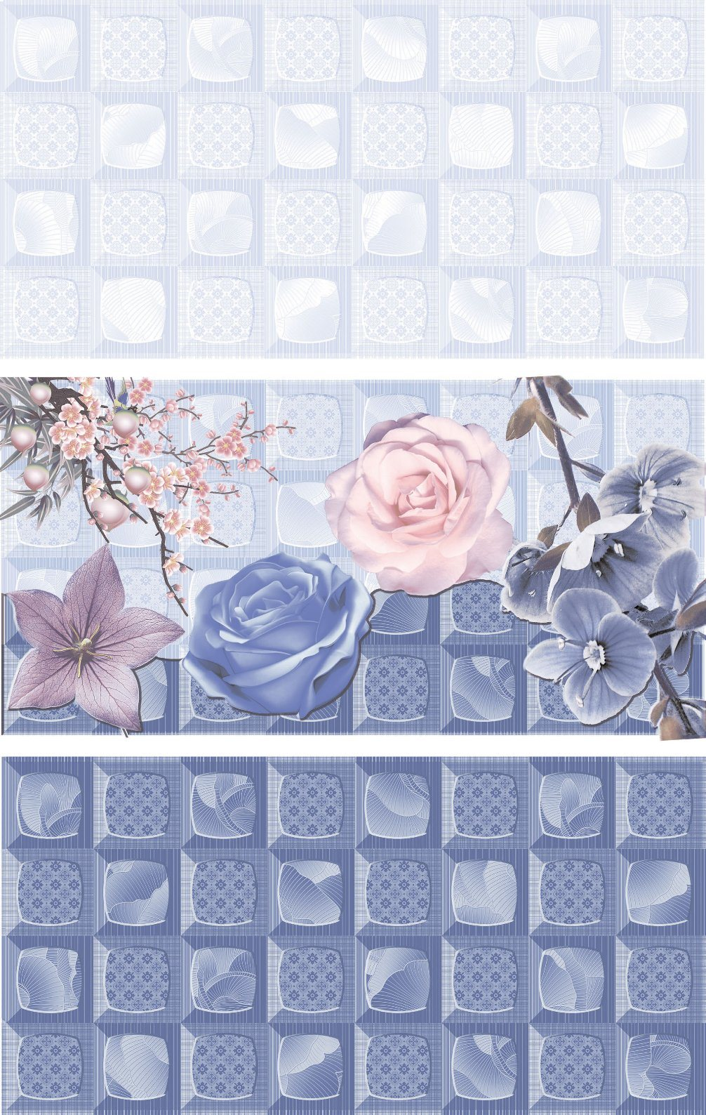 Anti-Slip 3D Inkjet Printing Ceramic Wall Tile with Tooling Design