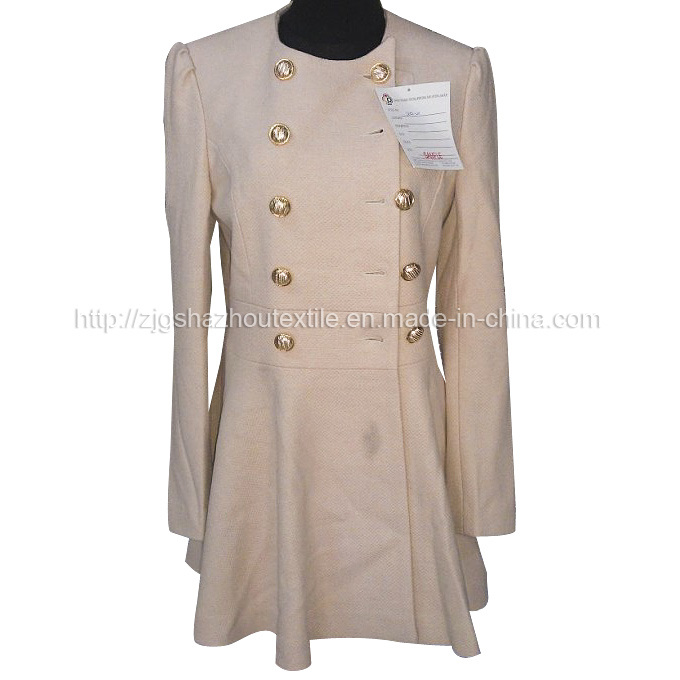 Women s Fashion Wool Overcoat -6 Photos & Pictures