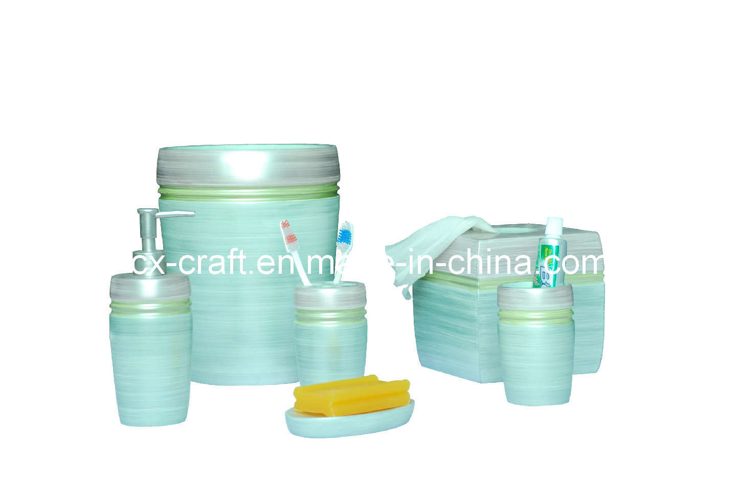 China fashion bathroom accessory set cx080159 china for Bathroom accessory sets
