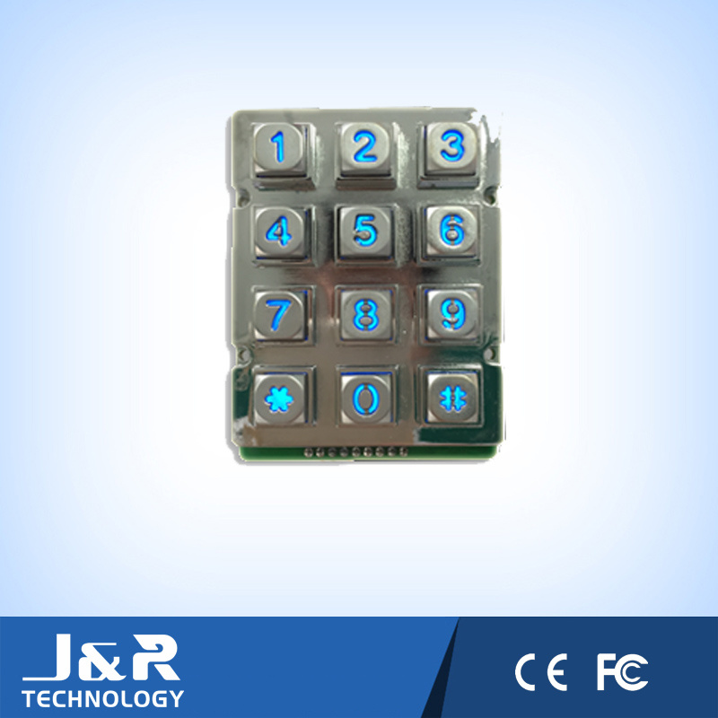 Robust LED Blacklight Metal Telephone Keypad, Public Phone Keypad