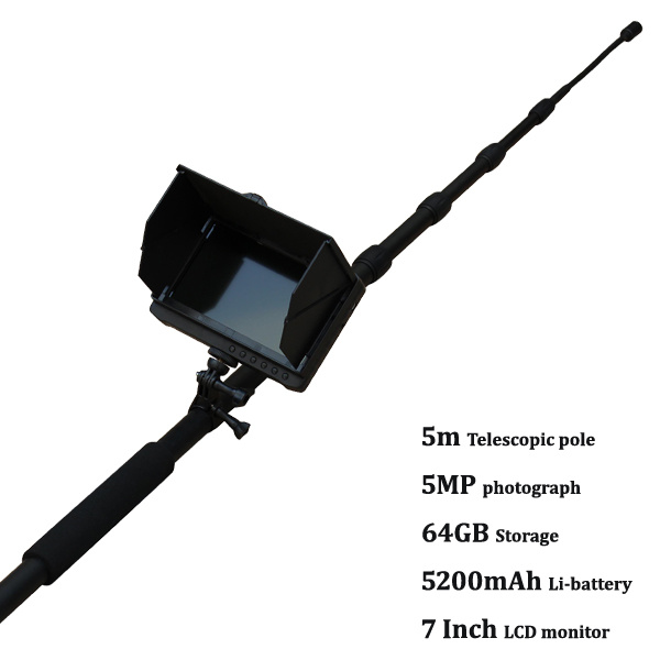 16feet Telescopic Pole HD Digital Pipe, Aquiculture Pisciculture Fish-Farming Inspection Camera with a HD 7inch Monitor