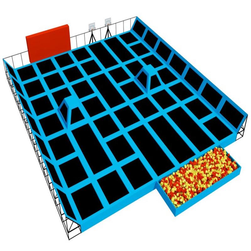 Newest Design Cheap Indoor Trampoline Park for Amusement Park