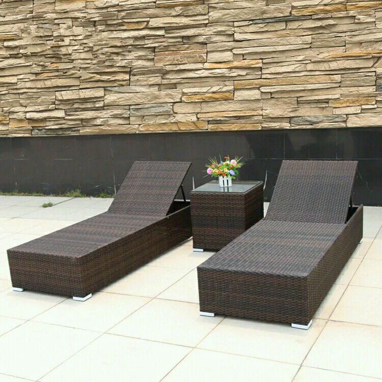 2016 Hotsales Leisure Rattan Beach Chairs with Cushion